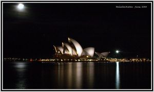 Opera House in the Moon Light by FireflyPhotosAust
