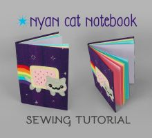 Sewing Tutorial: Nyan Cat Notebook by SewDesuNe