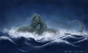 Jormungandr - The Midgard Serpent by IndiWolfOnline