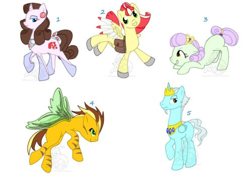 Open: Pony auction batch by C-B-Adopts