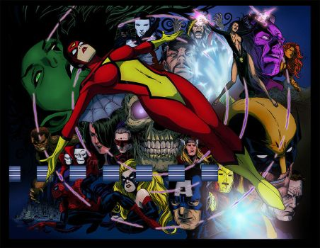 Spider Woman Colors Battle by Kubena