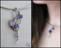 Silver pendant - collection First spring flowers by JuliaKotreJewelry