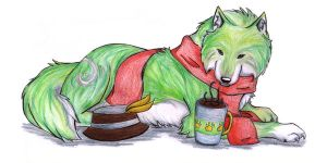 Enjoying a cup of Hot Coco by 100ThemesChallenge