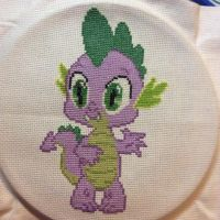 Spike Cross Stitch by AccioFireBolt1989