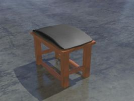 3d wooden bench by christ139