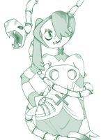 Skullgirls: Squiggly by birdy767