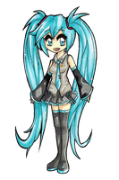 Hatsune Miku Re-draw by CiLundi