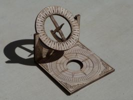 Sundial business cards holder by rcdog