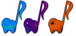 2/3 OPEN Music Themed Music Note Adopts - 25 Each! by Pizza-Adopts