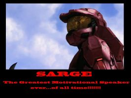 RvB Sarge Motivational Speaker by Dustiniz117