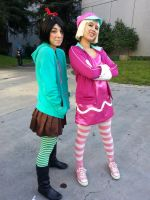 Wreck-it Ralph: Vanellope and Taffyta by demonexile0708