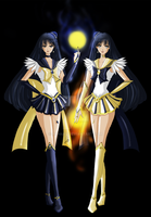 Sailor Nyx and Eos by ann4rt
