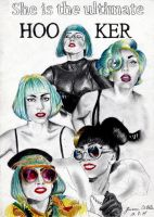 She is the ultimate HOOKER by LoveGagaRedAndBlue