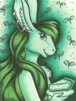 Green Bunny by hollyann