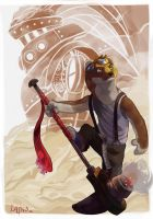 Klaus - Steampunk Weasel by AtaroLapin