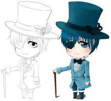Commission: Chibi Ciel by Fleeting-Truth