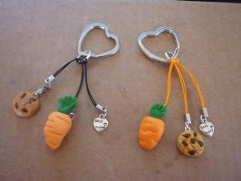 .: Keychain Cookie and Carrot :. by Shady-Fuyuzora