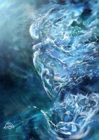 Water elemental by javi-ure