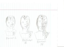 Blackheart mask evolution rough sketch pt 1 by BlackheartChimera13