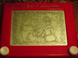 Forest Elf Girl Etch-a-Sketch by Capital-J