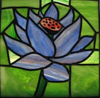 Black Lotus Stained Glass by AutobotWonko