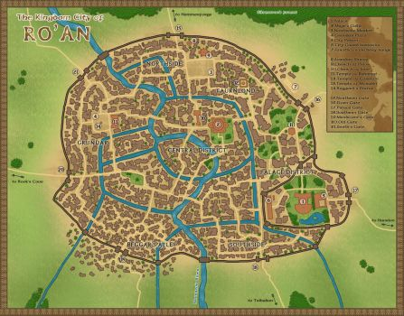 The Kingdom City of Ro'An by tipexleloup