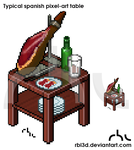 Typical Spanish Pixel-art table. by rbl3d