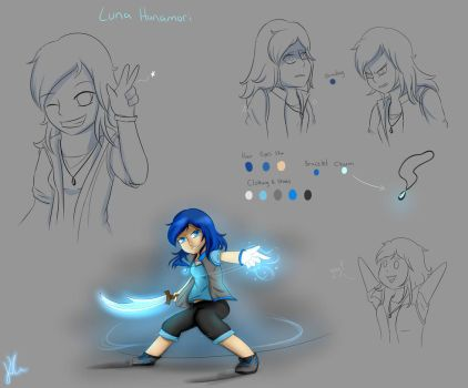 Concept Art: Luna Hanamori by Ice6400