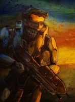 Master Chief by MachineGun-Baby