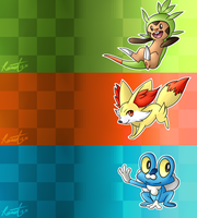 X and Y starters by nebulaebae