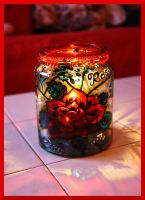 Rose Candle Jar by Bonniemarie