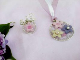 Flower ring and pendant by Mirtus63