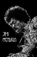Jimi Hendrix in Typography by kendravixie