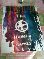 The Hunger Games crayon melting #2 by shimmer-thestral