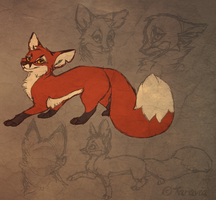 Fox character WIP by Taravia