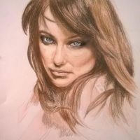 Olivia Wilde Colored Pencil Portrait by MYMONKEYBERNARD