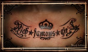 rich famous girl by buchtattoo