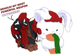 Deadpool and Bunny -colors by iwan13