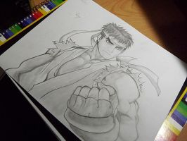 Ryu // Street Fighter by Blytheafy