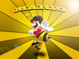 Mario Bee Wallpaper by H-Thomson