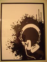 Headphone painting by akaSharpie