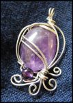 Silver Wrapped Amethyst by BacktoEarthCreations