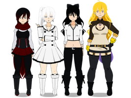 Team RWBY Vol. 2 Attires (with codes!) by TheLastGallant