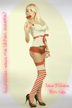 Les Filles Pin-Up Do You Want To Lick My Lollipop by David-Michaels