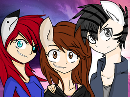 me and my favorite ocs by nederside