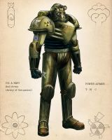 Retro Power Armor Colors by calebcleveland