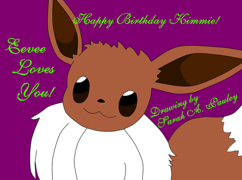 Birthday Eevee by Snapefan83