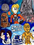 Retro Star Wars Poster by SonicClone
