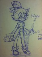 :Doodle: Blaze the cat by SWAG-Daddy