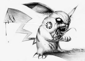 Evil Pikachu by n00brevolution